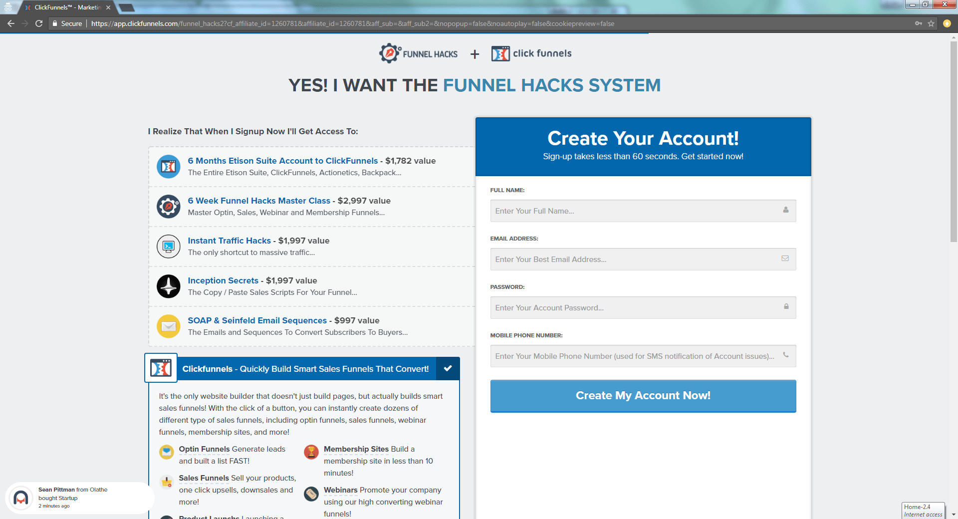 what does clickfunnels cost